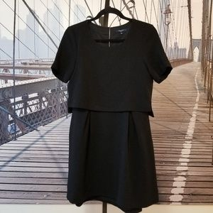 Madewell crop layer dress pleated